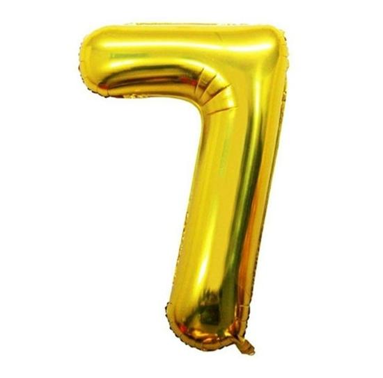 بادکنک فویلی طلایی عدد7